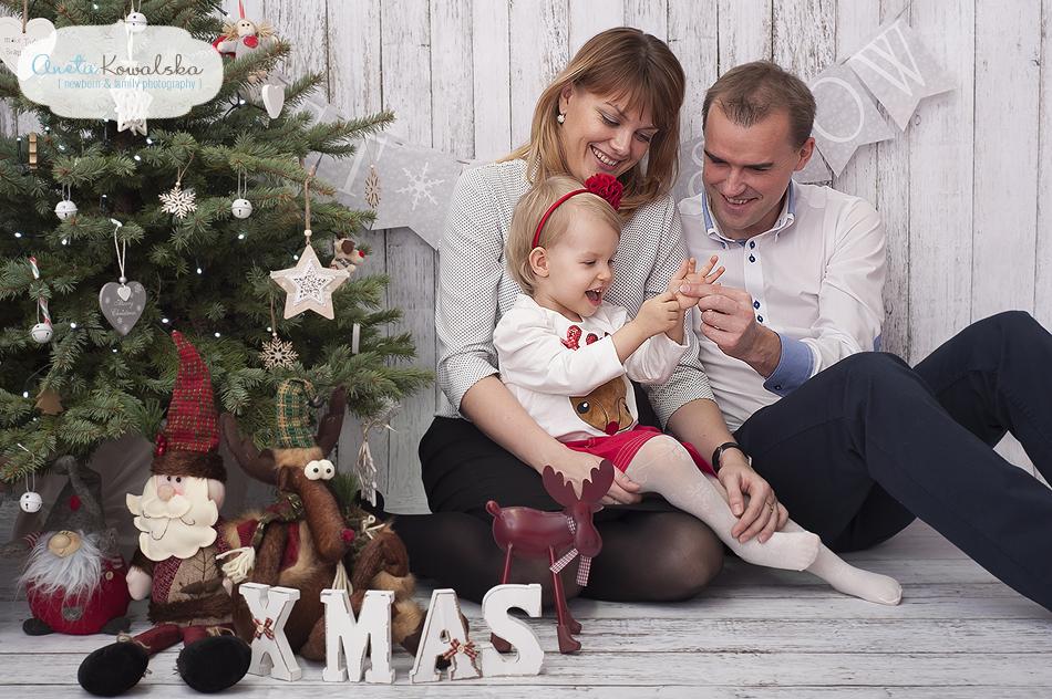sesja świąteczna rodzinna